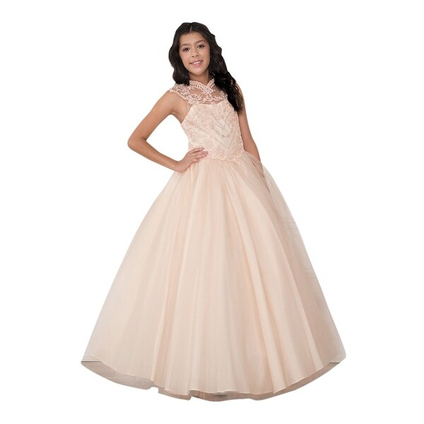 9e70799efc Shop Calla Collection Girls Blush Glitter Heart Junior Bridesmaid ...