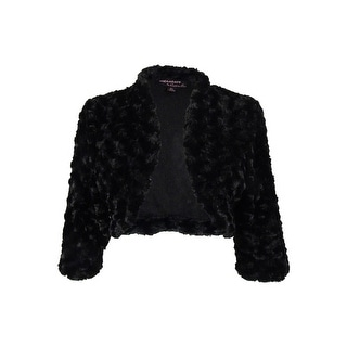 Signature by Robbie Bee Women's Open Front Faux Fur Shrug