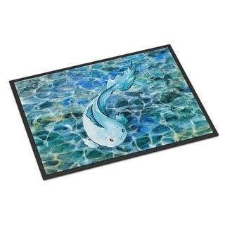 Carolines Treasures BB8524MAT Blue Fish Indoor or Outdoor Mat - 18 x 27 in.