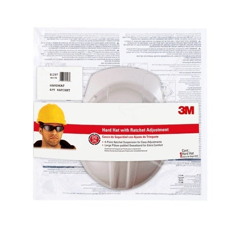3M CHH-R-W6 Tekk Protection Hard Hat With Ratchet Adjustment, White