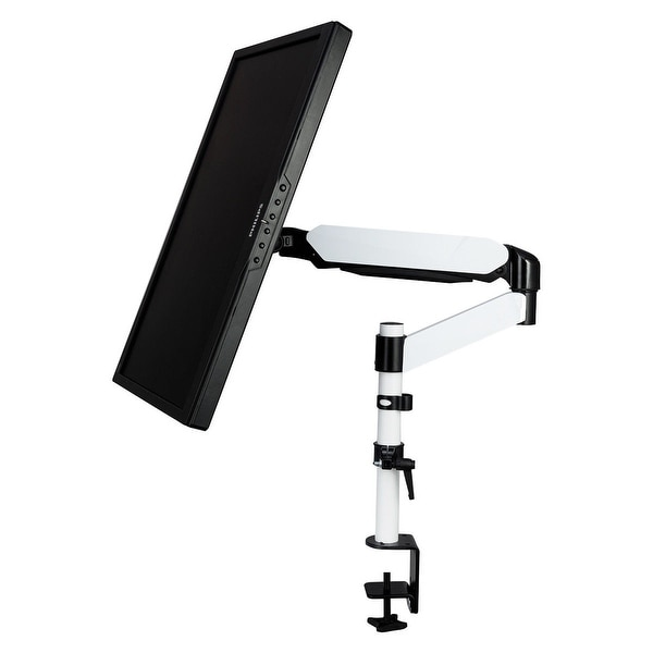 """Single Arm TV LCD Monitor Desk Mount Stand Bracket Swivel ±15° Screen up to 27/"""""""