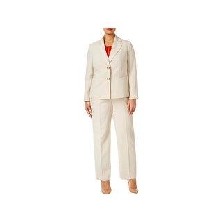Le Suit Womens Plus Pant Suit Two-Button 3PC - 22W