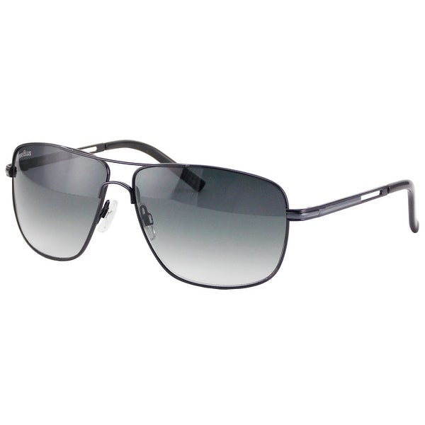 419252e954 Shop Perry Ellis Mens Metal Aviator Sunglasses Gunmetal Black-PE24-3 ...