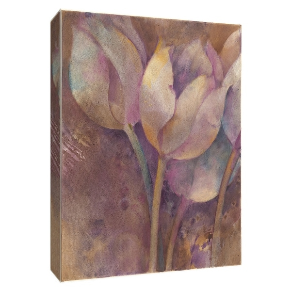 """PTM Images 9-154702 PTM Canvas Collection 10"""" x 8"""" - """"Moonlit Tulips I"""" Giclee Tulips Art Print on Canvas"""