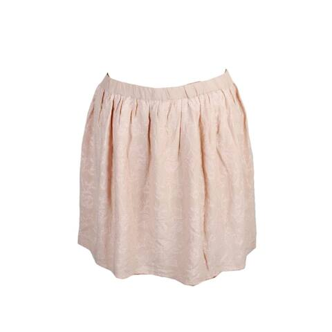 Lucky Brand Blush Embroidered Mini A-Line Skirt M