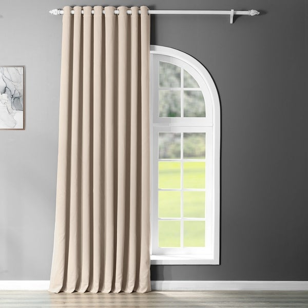 Exclusive Fabrics Extra Wide Blackout Grommet 84-inch Curtain Panel - 100 x 84. Opens flyout.