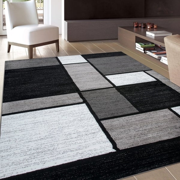 Contemporary Modern Boxed Color Block Area Rug. Opens flyout.