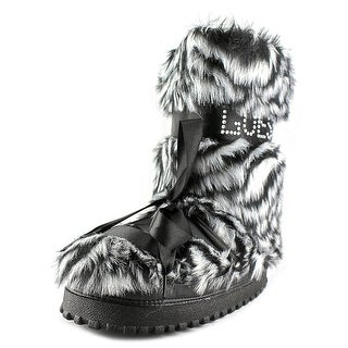 Guess Chalet Women Round Toe Synthetic Black Winter Boot