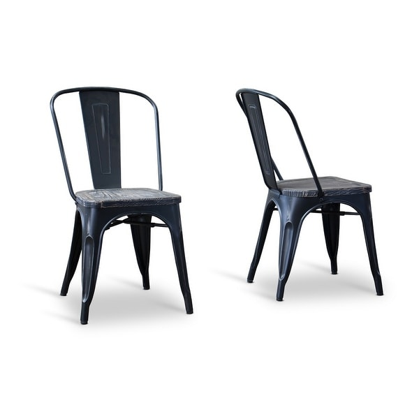 Attrayant Shop French Industrial Bistro Chair In Antique Black   2pcs   Free Shipping  Today   Overstock   14781512