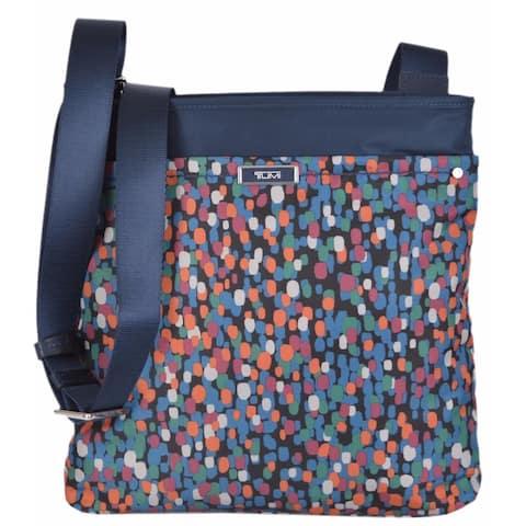 Tumi 481987 Devon Brushed Dot Nylon Crossbody Purse Messenger Day Bag