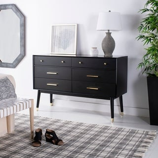 Link to Safavieh Couture Madden Retro Dresser - Black / Brass Similar Items in Bedroom Furniture