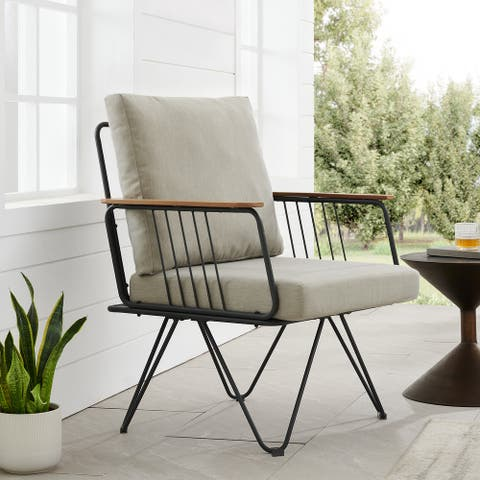 Havenside Home Metal Hairpin Leg Patio Chair