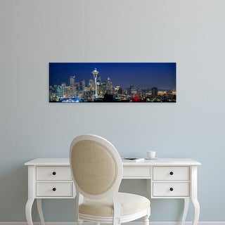 Easy Art Prints Panoramic Images's 'Skyline with Space Needle, Seattle, King County, Washington State' Canvas Art