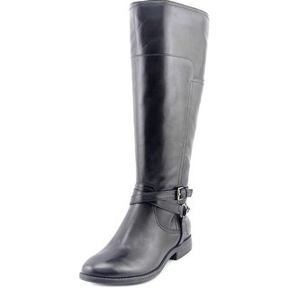 Marc Fisher Alexis Wide Calf Women W Round Toe Leather Knee High Boot