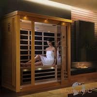 Dynamic 3-person Far Infrared Natural Hemlock Wood Florence Sauna / DYN-6315-01 - White