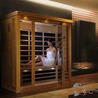 Dynamic 3-person Far Infrared Natural Hemlock Wood Florence Sauna / DYN-6315-01 - White - N/A