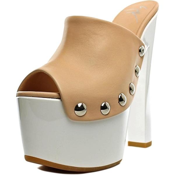 Giuseppe Zanotti Saintro 105 Open Toe Leather Platform Heel