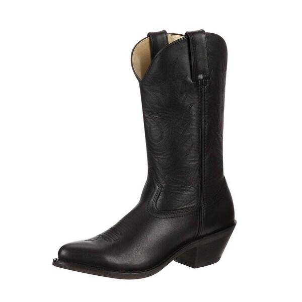 "Durango Western Boots Womens 11"" Pull Tab Cowgirl Heel Black"