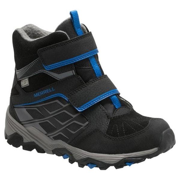 800567a80d Merrell Boys' Moab FST Polar Mid A/C Waterproof Boot Preschool Black