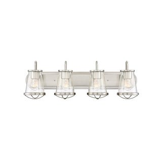 "Designers Fountain 87004 Darby 4-Light 30"" Wide Bathroom Vanity Light with Seedy Glass Shades - N/A"