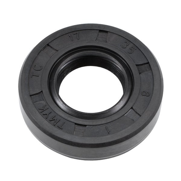 Oil Seal, TC 17mm x 35mm x 8mm, Nitrile Rubber Cover Double Lip - 17mmx35mmx8mm