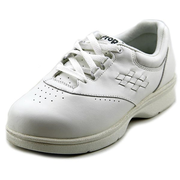 Propet Vista Walker Women 2E Round Toe Leather White Sneakers