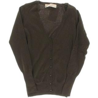 Zara Knit Womens Button Front V-Neck Cardigan Sweater