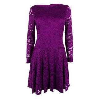 Ivanka Trump Women's Lace Flare Dress