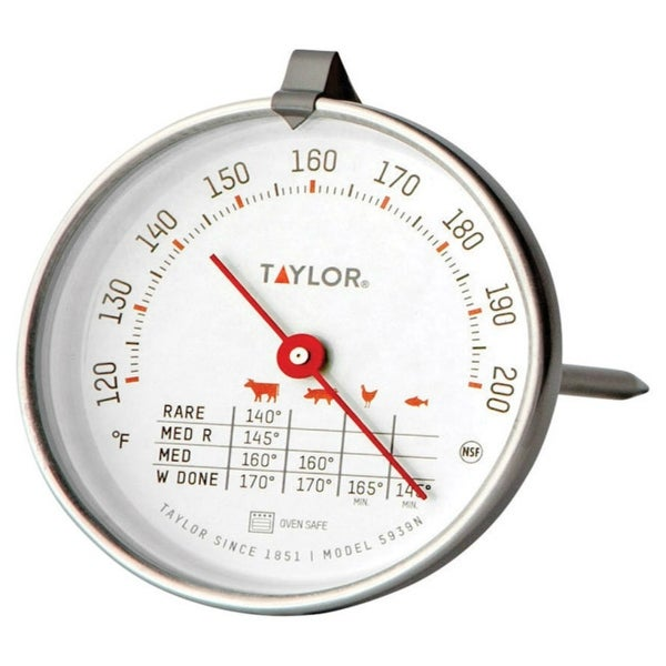 Taylor 5939N Meat Thermometer, 120 to 200 deg. F