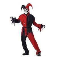 Adult Black/Red Evil Jester Big & Tall Costume - big & tall