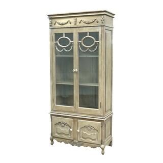 "Sterling Industries 89-5003 El San Juan 78.5"" Height Cabinet - Antique White"