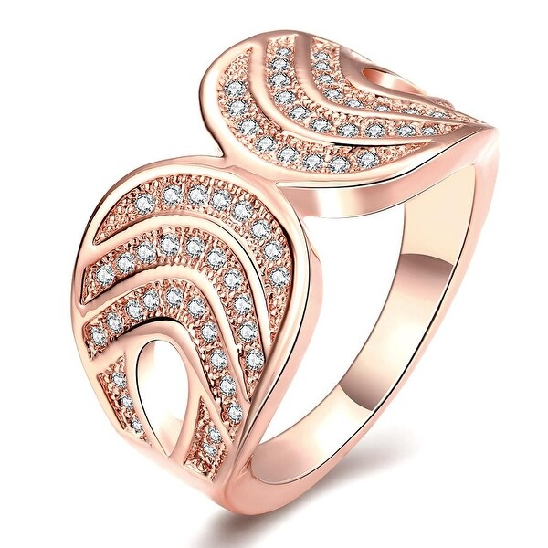 Double Lined Rose Gold Infused Ring