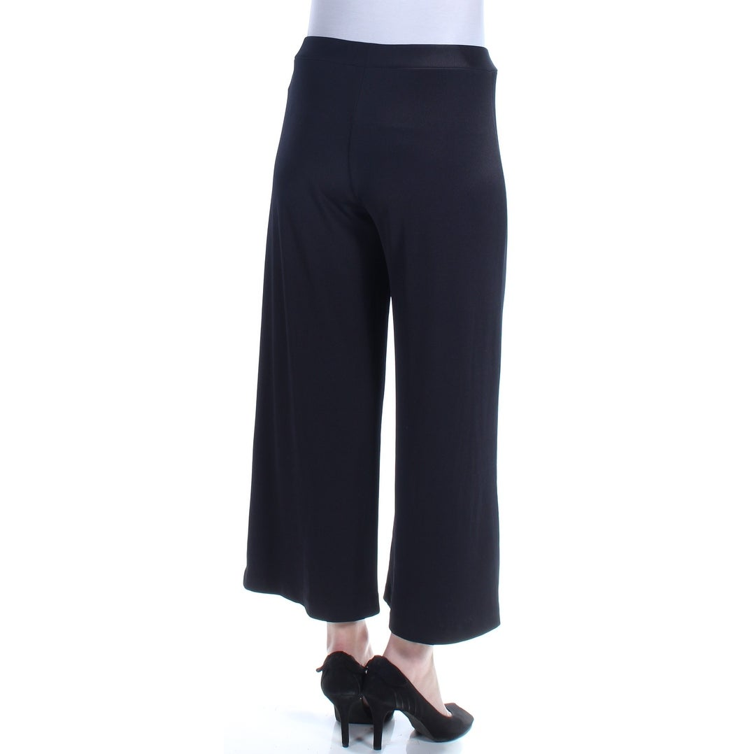 86c70f19e Shop KENSIE Womens Black Cropped Ribbed Wide Leg Pants Size: M - On Sale -  Free Shipping On Orders Over $45 - Overstock - 21388695