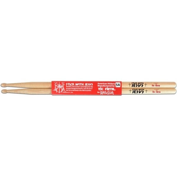 Stick With Jesus Hickory Christian Drumsticks, Natural
