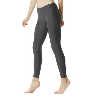 Tesla FYP41 Women's Mid-Waist Ultra-Stretch Yoga Pants - Heather Charcoal