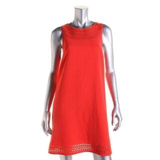 Trina Turk Womens Cut-Out Sleeveless Cocktail Dress