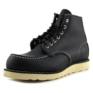 Red Wing Shoes Heritage Men  Round Toe Leather Black Work Boot