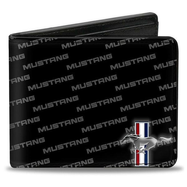 Ford Mustang W Bars Corner W Text Bi Fold Wallet - One Size Fits most