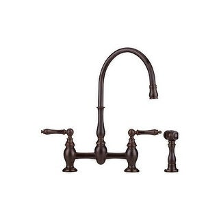 Franke FF6000A Bridge High Arch Kitchen Faucet with Side Spray