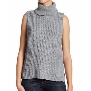 Cotton Emporium NEW Gray Ribbed-Knit Medium M Turtleneck Mock Sweater