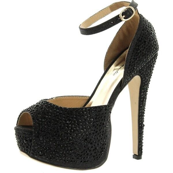Eye Candie Womens Juliana-77 Shiny High Heel Fashion Sandal