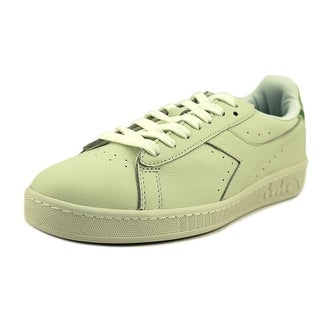 Diadora Game L Low Camo Men  Round Toe Leather White Sneakers