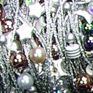 Silver and Grey Metallic Ribbed Wired Beads Etc X-Colorado 27 Yards