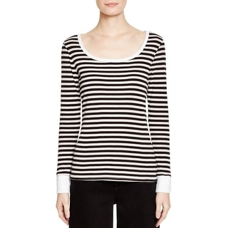 Frame Shirt Womens Casual Top Striped Contrast Trim