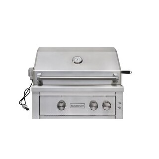 EdgeStar GRL300IBNG 60000 BTU 30 Inch Wide Natural Gas Built-In Grill with Rotis