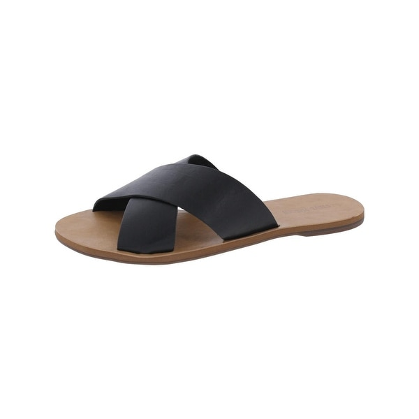 Steve Madden Womens Ayyva Flat Sandals Open Toe Crisscross