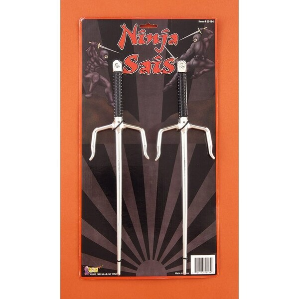 Ninja Sais Sword Weapon Costume Prop Set - Silver