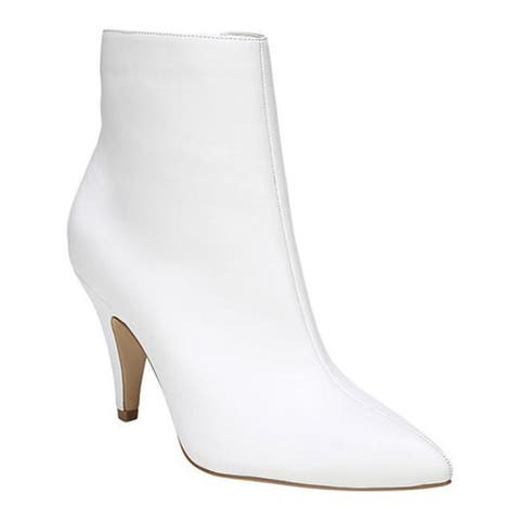 Carlos by Carlos Santana Women's Mandarin Bootie White Manmade Leather