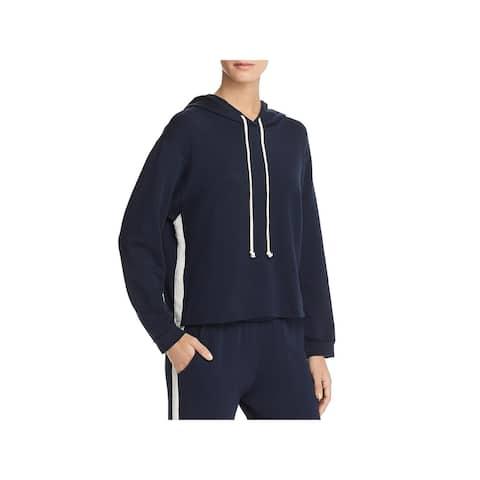 VELVET BY GRAHAM & SPENCER Womens Hoodie Fleece Varsity Stripe - Postman