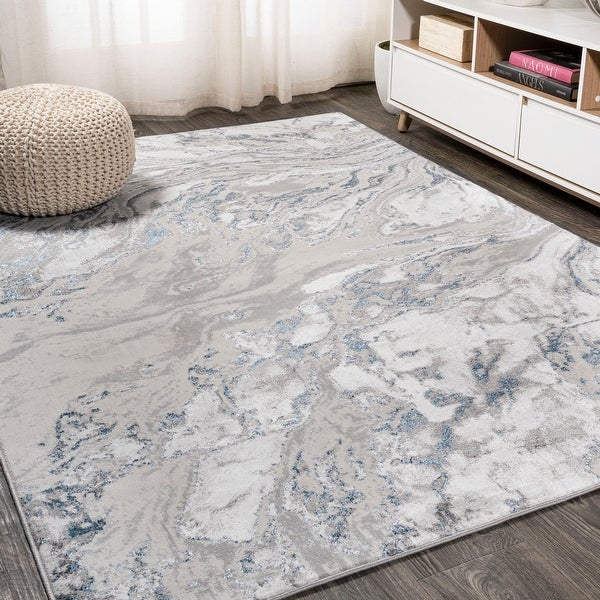 JONATHAN Y Swirl Marbled Abstract Area Rug. Opens flyout.